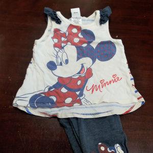 5/$10 Girls 4T Minnie Mouse Set